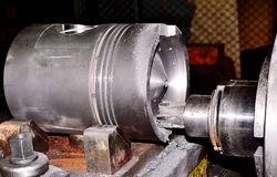 Der Kolben für Dieselmotor Lizenzfreie Stockfotografie