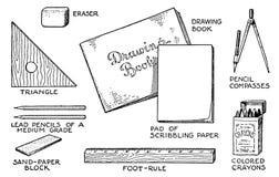 Der Kompaß und der Winkelmesser Stockbild