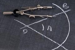 Der Kompass und der Winkel vektor abbildung