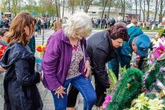 Der Komplex von den Ereignissen eingeweiht dem 30. Jahrestag des Tschornobyl-Unfalles in der Gomel-Region des Republik Belarus Stockfotografie