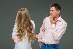 Der Konflikt von Paaren Stockfotos