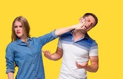 Der Konflikt von Paaren Lizenzfreies Stockbild