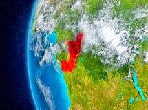 Der Kongo auf Erde vom Raum Lizenzfreie Stockfotografie