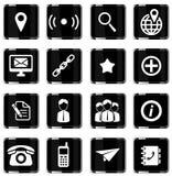 Der Kontakte Ikonen einfach Lizenzfreie Stockfotografie