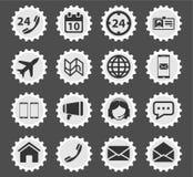 Der Kontakte Ikonen einfach lizenzfreie stockfotos
