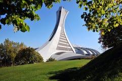 Der Kontrollturm des Montreal-olympischen Stadions Lizenzfreies Stockfoto