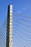 Der Kontrollturm einer Brücke Stockfoto