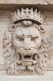 Der Kopf des Dekorations-Löwes Stockfoto
