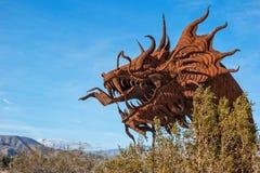 Der Kopf des Drachen in Galleta-Wiesen Stockfoto