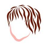 Der Kopf des Kindes mit dem braunen Haar, farbiger Entwurf stock abbildung