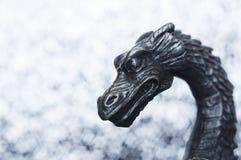 Der Kopf des metallischen Drachen Stockfotografie