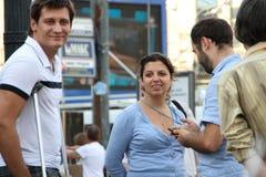 Der Kopf des Zustand Fernsehkanals Russland heute Margarita Simonyan auf oppositioneller Sitzung stockfoto