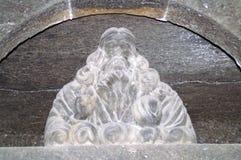 Der Kopf eines Mannes mit einem Bart des Steinsalzes Stockfotografie