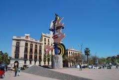 Der Kopf von Barcelona, Katalonien lizenzfreie stockfotos