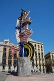 Der Kopf von Barcelona in Katalonien lizenzfreies stockbild