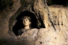 Der Kopf von Santa Rosalia, glasig-glänzendes keramisches Stockbild