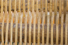 Der Korbwarenbambuswand Hintergrund Lizenzfreie Stockfotos