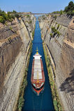 Der Korinth-Kanal Stockbild