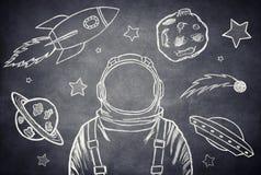 Der Kosmonaut Lizenzfreie Stockbilder