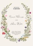 Der Kranz von wilden Blumen Stockbilder