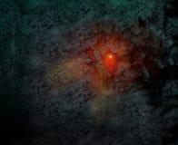 Der Krater einer Lawine lizenzfreie abbildung