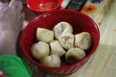 Der Kreis Fried Tofu Lizenzfreies Stockbild