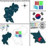 Der Kreis Pyeongchang in Gangwon, Südkorea Lizenzfreies Stockfoto