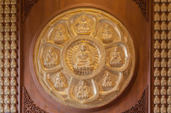 Der Kreis von goldenem Buddha Stockbilder
