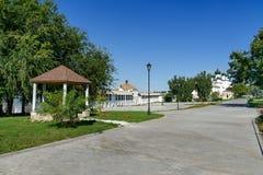 Der Kreml-Bereich in Astrakhan Russland Lizenzfreies Stockfoto