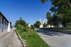 Der Kreml-Bereich in Astrakhan Russland Lizenzfreies Stockbild