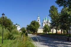 Der Kreml-Bereich in Astrakhan Russland Stockfotografie