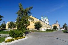 Der Kreml-Bereich in Astrakhan Russland Lizenzfreie Stockfotos