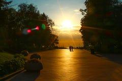 Der Kreml-Gasse bei Sonnenuntergang Stockfotografie