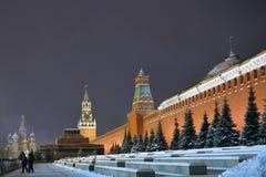 Der Kreml in Moskau am Winter Russland lizenzfreie stockbilder