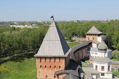Der Kreml in Velikiy Novgorod Stockbild
