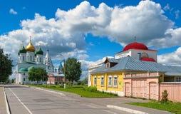 Der Kreml von Kolomna, Lazareva-Straße Stockbild