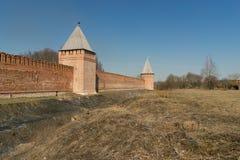 Der Kreml-Wand in Smolensk Lizenzfreies Stockfoto