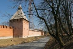 Der Kreml-Wand in Smolensk Stockfoto