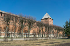 Der Kreml-Wand in Smolensk Lizenzfreie Stockfotos