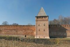 Der Kreml-Wand in Smolensk Stockbild