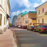 Der Kremlin wird im Fluss reflektiert Stockfotografie