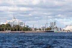 Der Kreuzer die Aurora auf dem Parken Lizenzfreies Stockbild