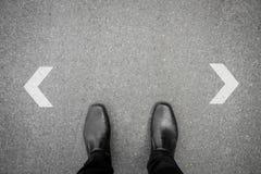 An der Kreuzung zu machen Entscheidung, Stockfotos