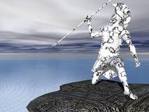 Der Krieger-Wächter Stockbild