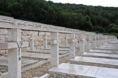 Der Kriegskirchhof der Stadt von montecassino Stockfoto
