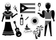 Der Kuba-Satz Stockfotos