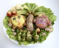 Der Löwe und der Affe werden vom Reis gemacht Stockfotografie