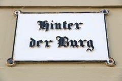 Der Lübecks Hinter Burg Lizenzfreies Stockfoto