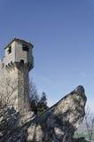 Der La Cesta-Turm des Berg-Titanen Stockfotografie