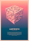 Der Labyrinthwürfel Stockfotografie